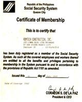 SSS Certificate