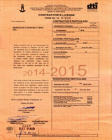 Contractor's License