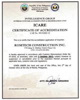 ICARE Certificate